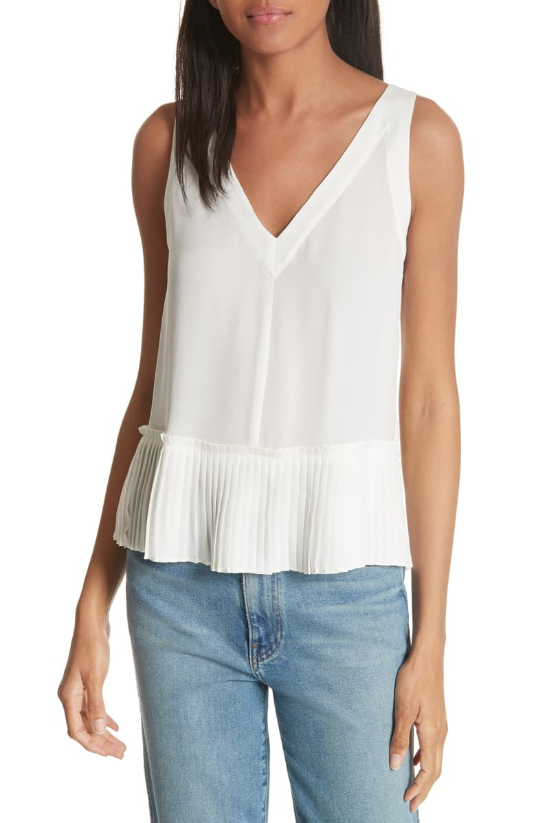 Rebecca Taylor Pleat Hem Tank - Wear with everything!