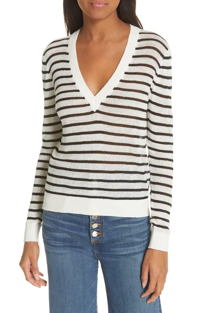 Veronica Beard Striped Sweater -