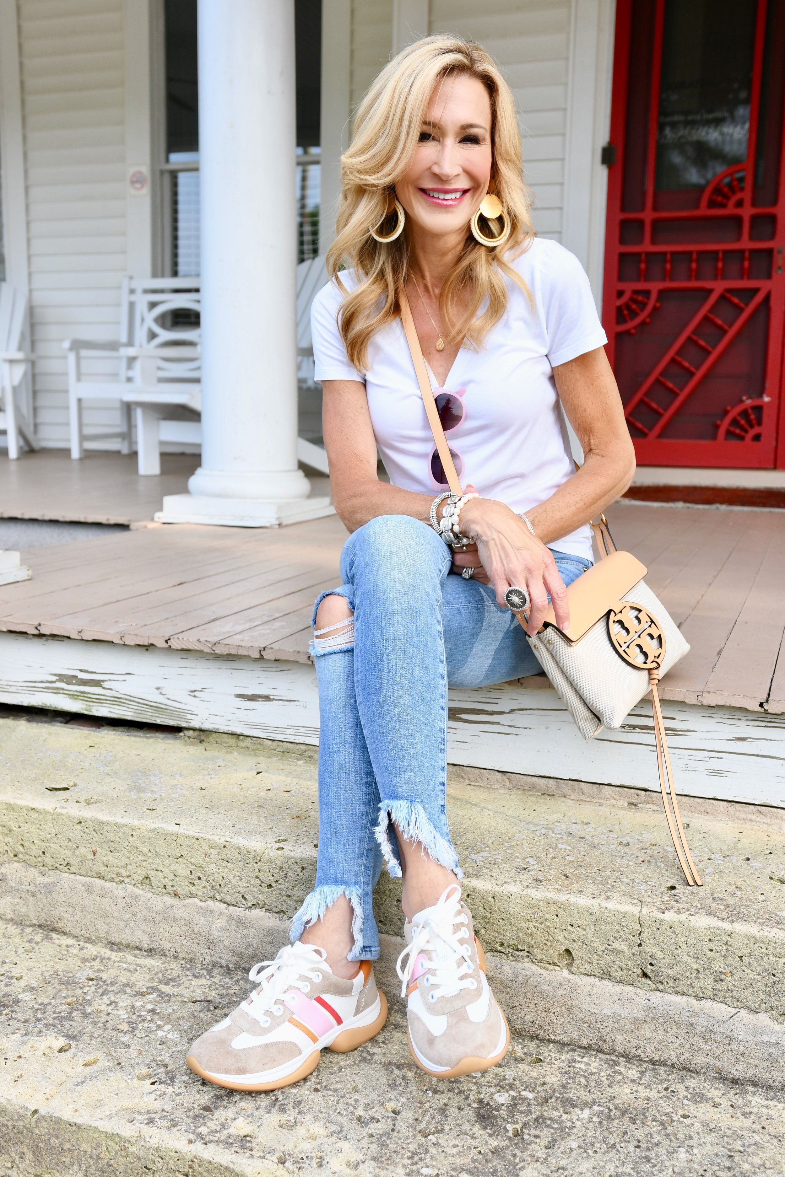 Tory Burch Bubble Sneakers & Miller Crossbody Bag - Crazy Blonde Life