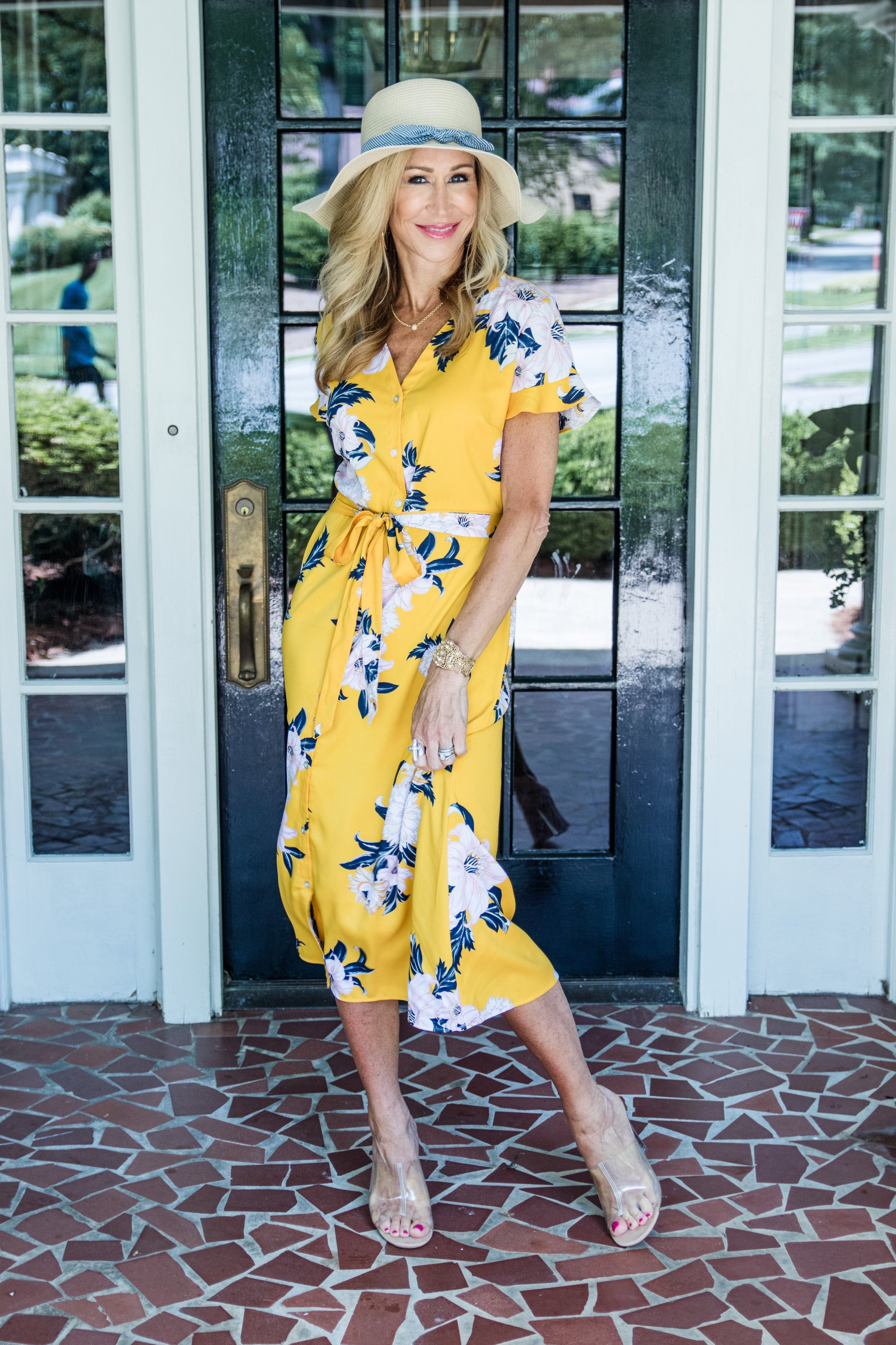 Loft Floral Dress & Hat - Crazy Blonde Life