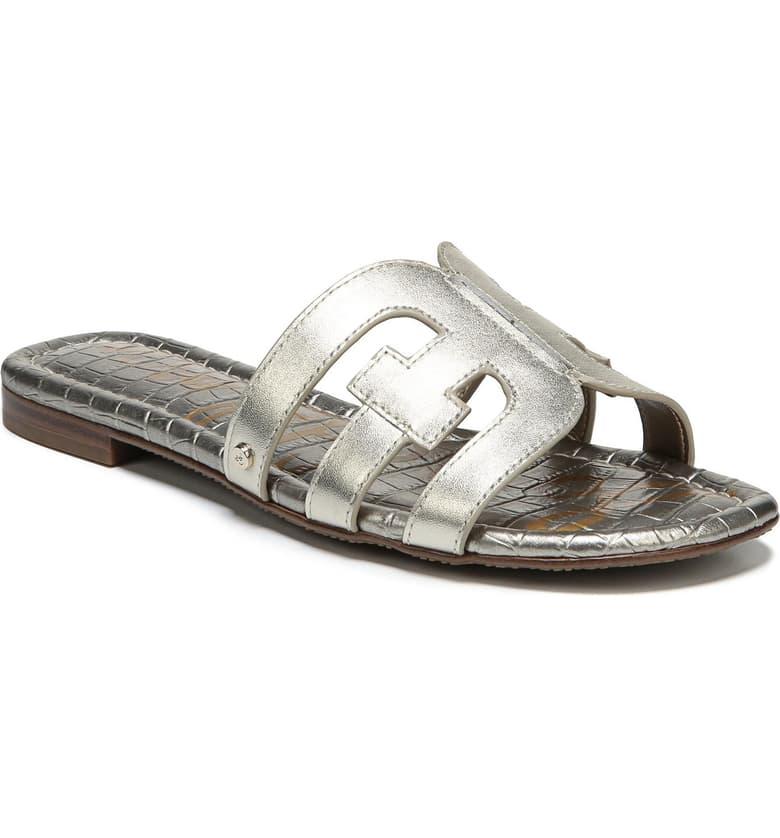 Sam Edelman Silver Cut Out Sandal - Nordstrom