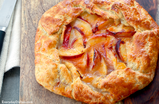 Rustic Peach Tart from Everyday Dishes