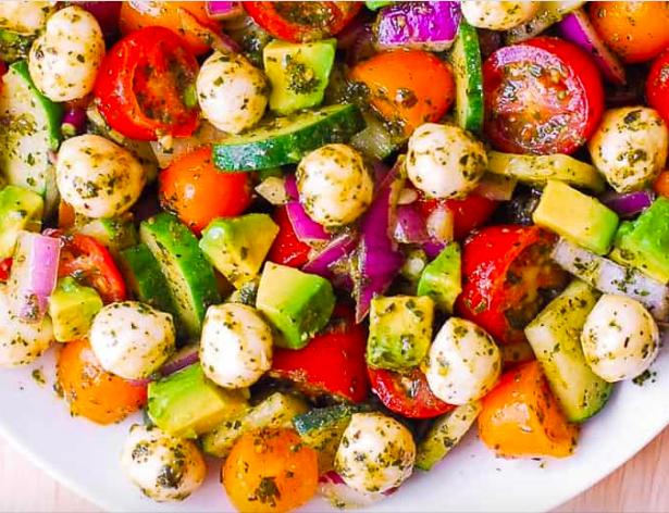 Avocado Salad with Tomatoes, Mozzarella & Basil Pesto from Julia's Album
