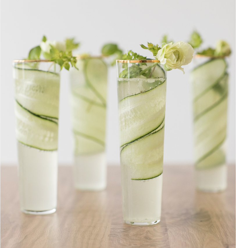 Cucumber Kiwi Gimlet via Sugar and Charm
