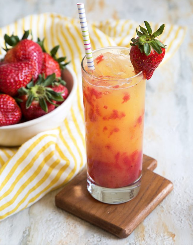 Strawberry Tequila Sunrise via The Little Epicurean