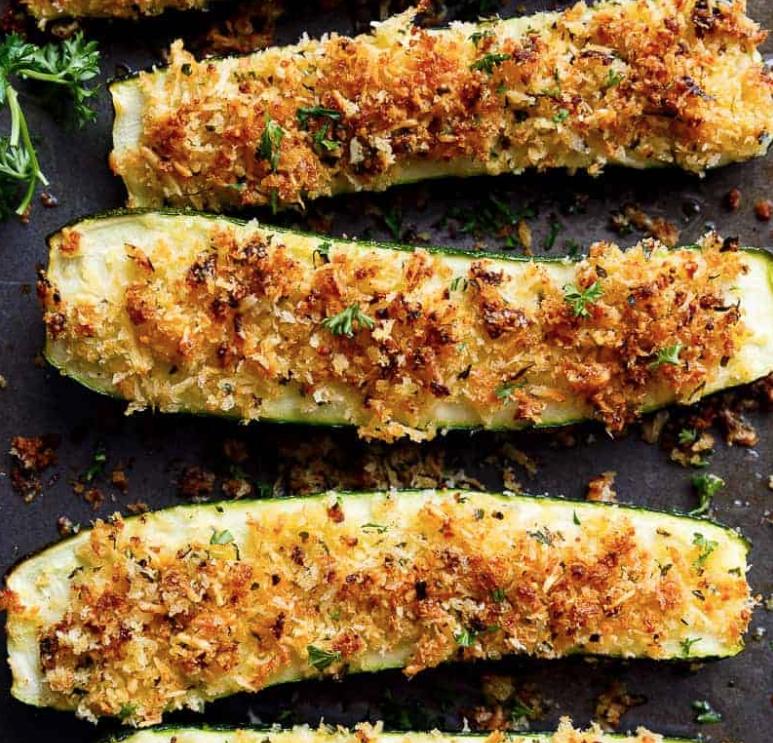 Parmesan Zucchini via Cafe Delites