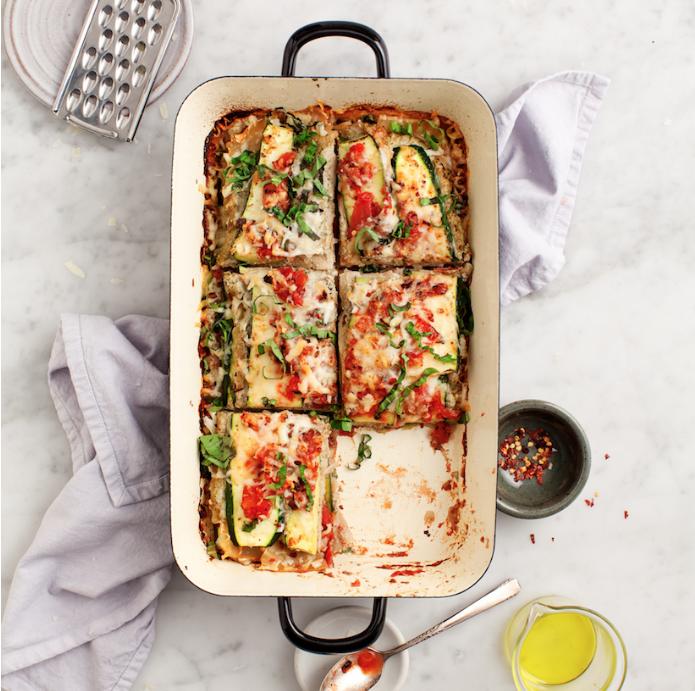 Zucchini Lasagna with Vegan Ricotta via Camille Styles