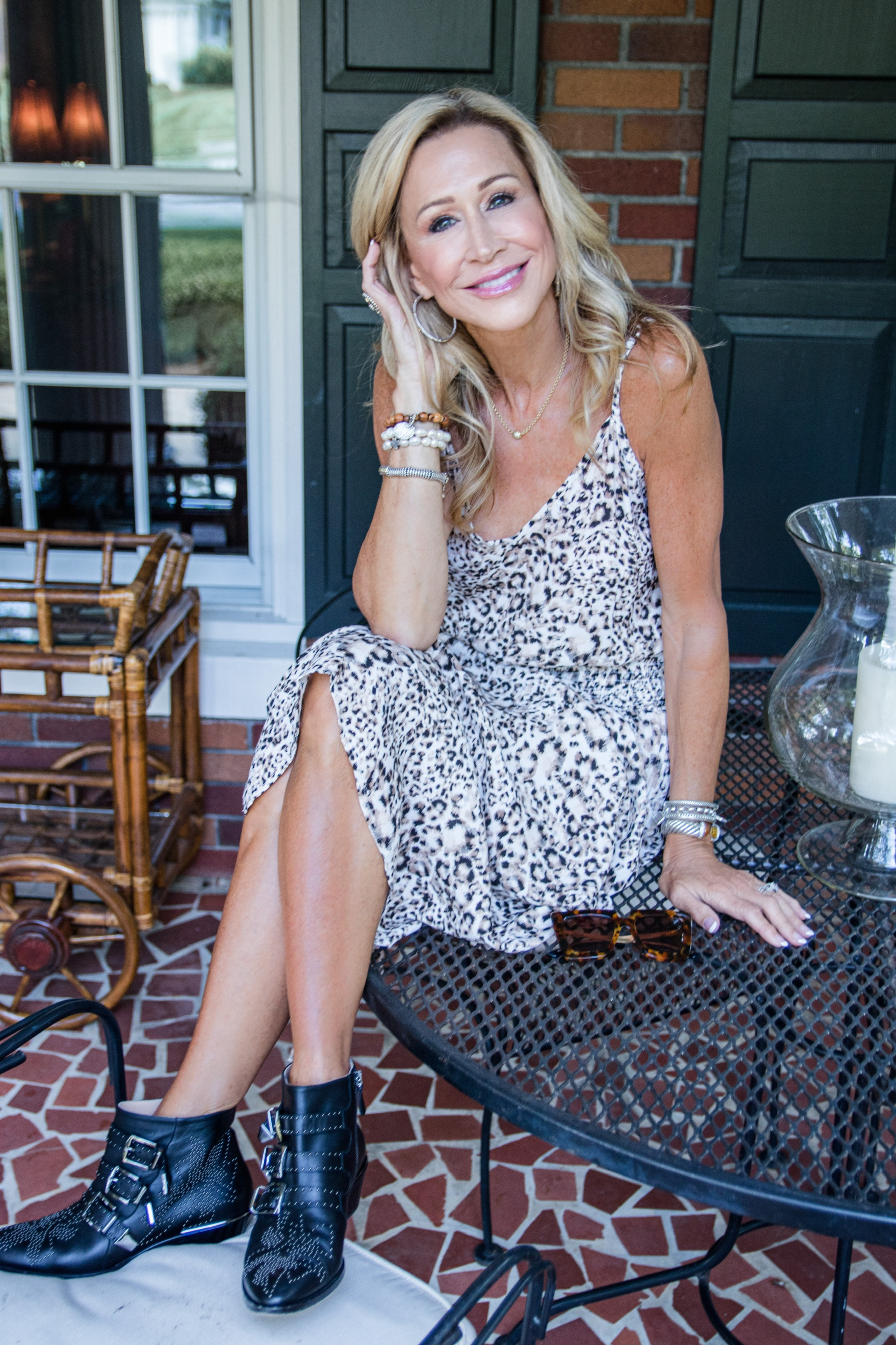 Blue Life leopard print dress - Fall transitional outfit - Crazy Blonde Style