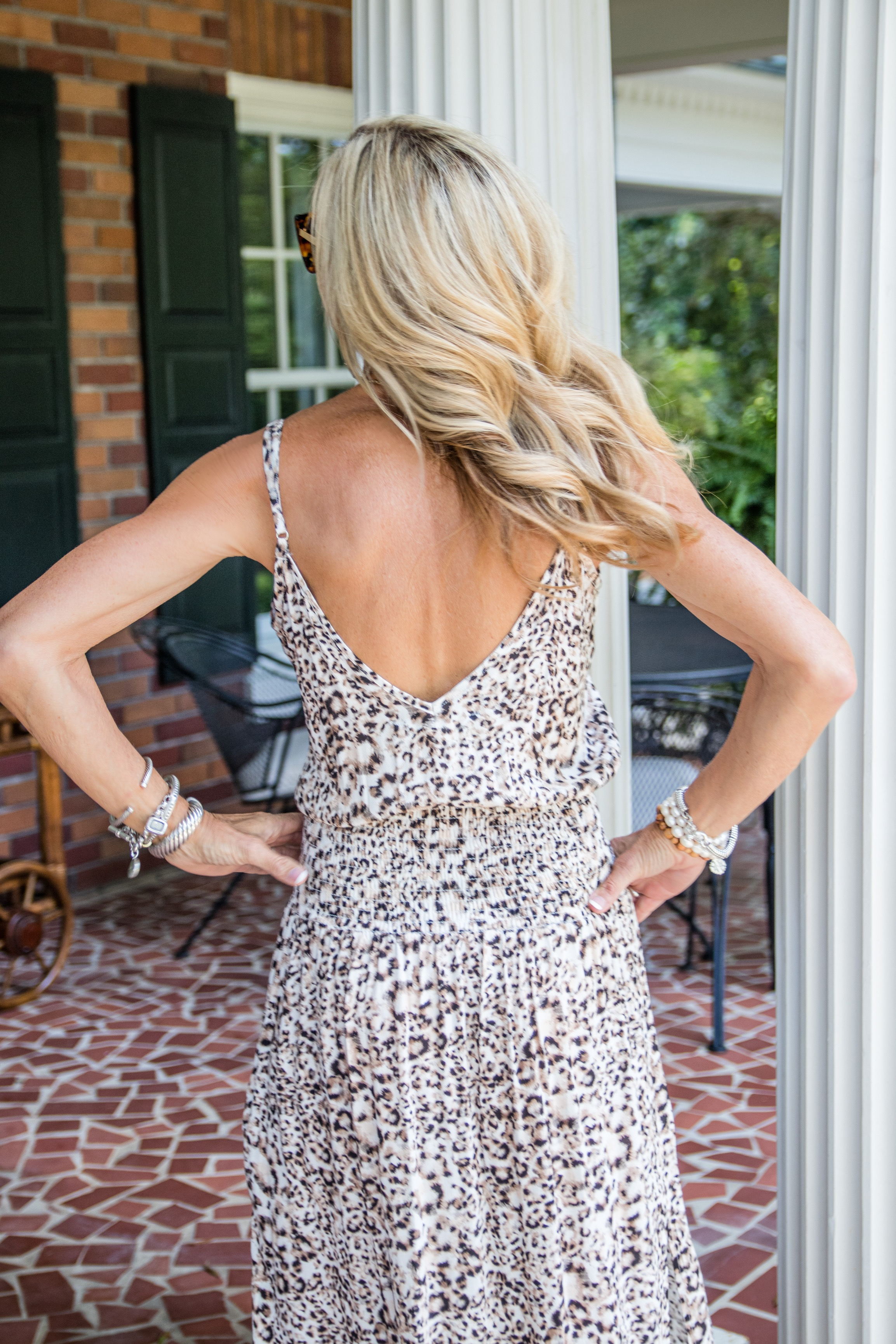 Blue Life leopard print dress - Crazy Blonde Style