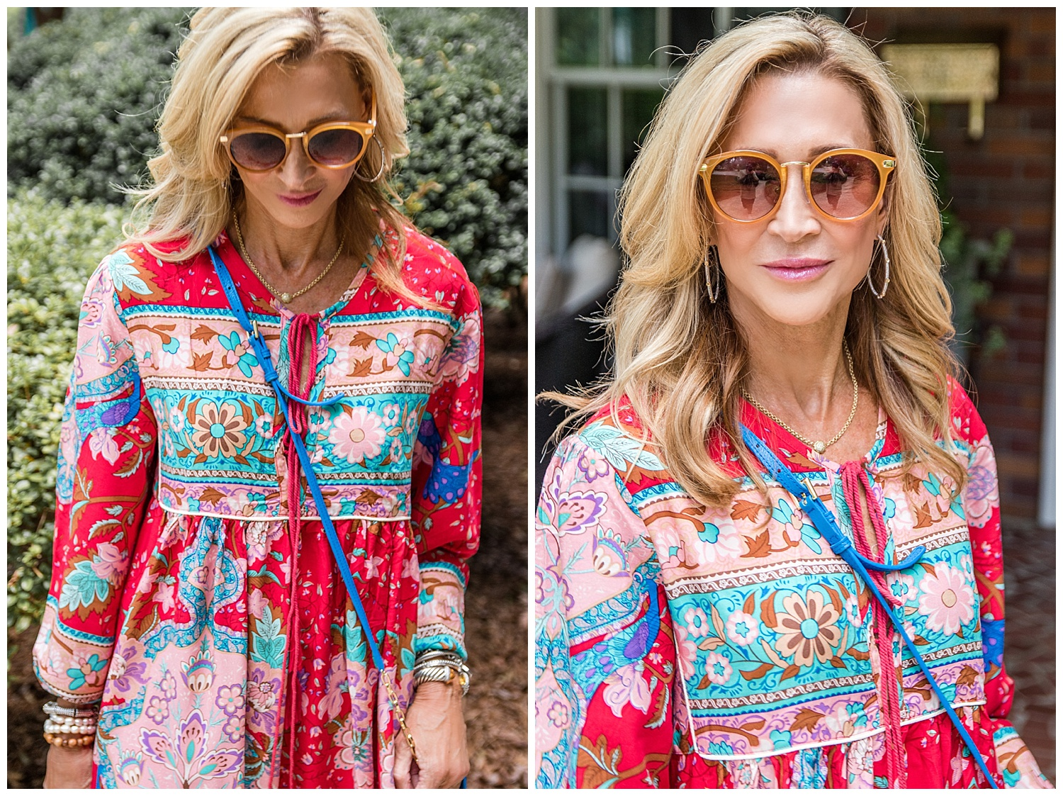 Amazon dress with Tory Burch sandals - Crazy Blonde Life