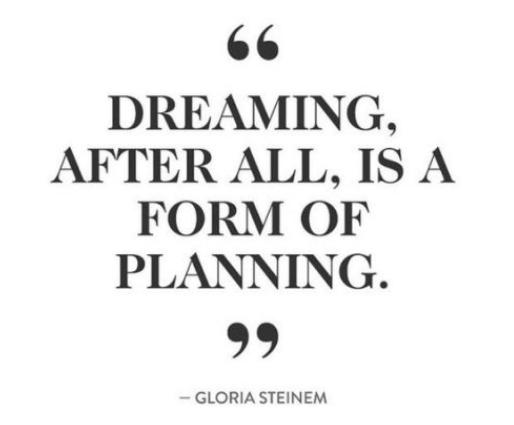Inspirational quote from Gloria Steinum