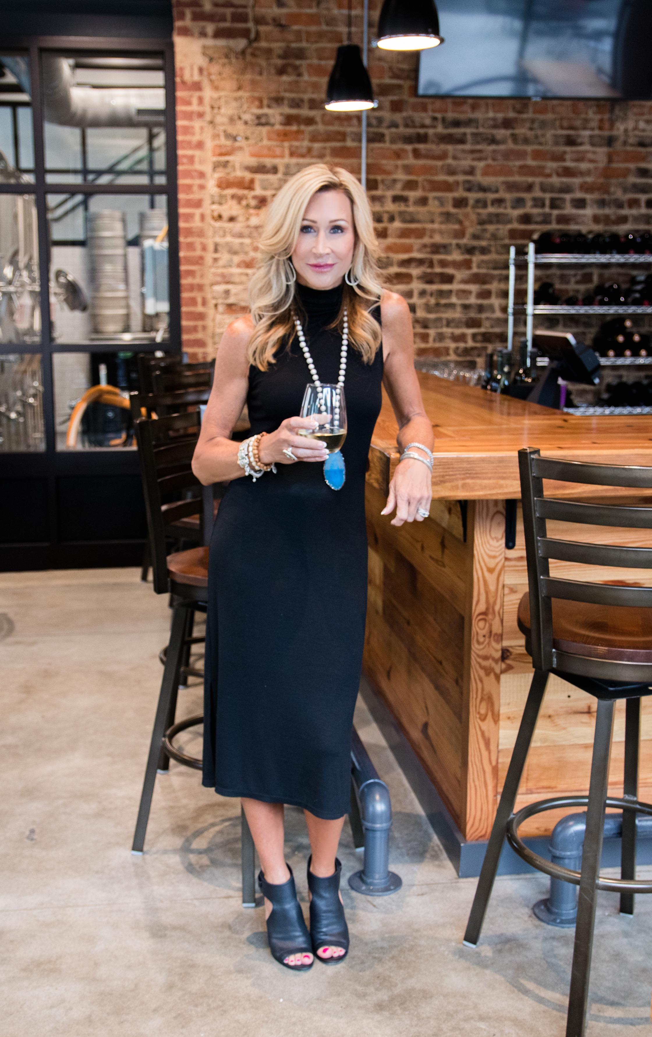 Target Black turtleneck dress - Crazy Blonde Life