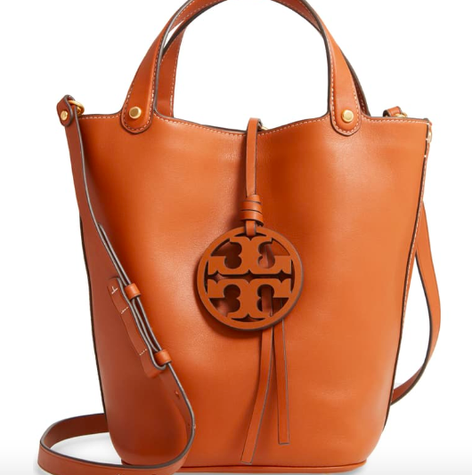 Leather Bucket Bag - Tory Burch