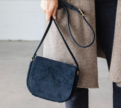 Jennie Kayne Suede Saddle Bag - $475