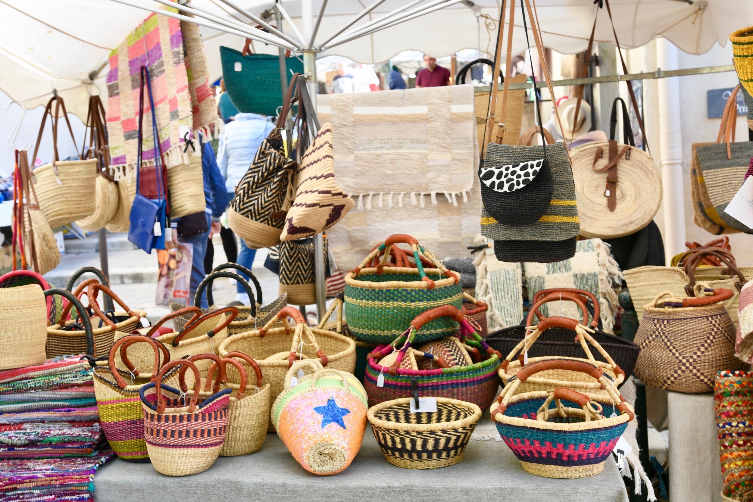 Market Day in Lourmarin France - Crazy Blonde Life