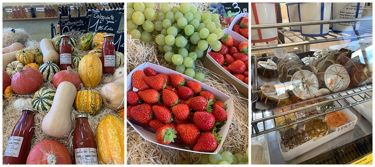 Food in a market in France - My Crazy Blonde trip to France