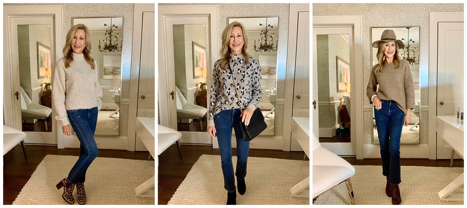 Styling a Pullover Sweater with Jeans - Crazy Blonde Life