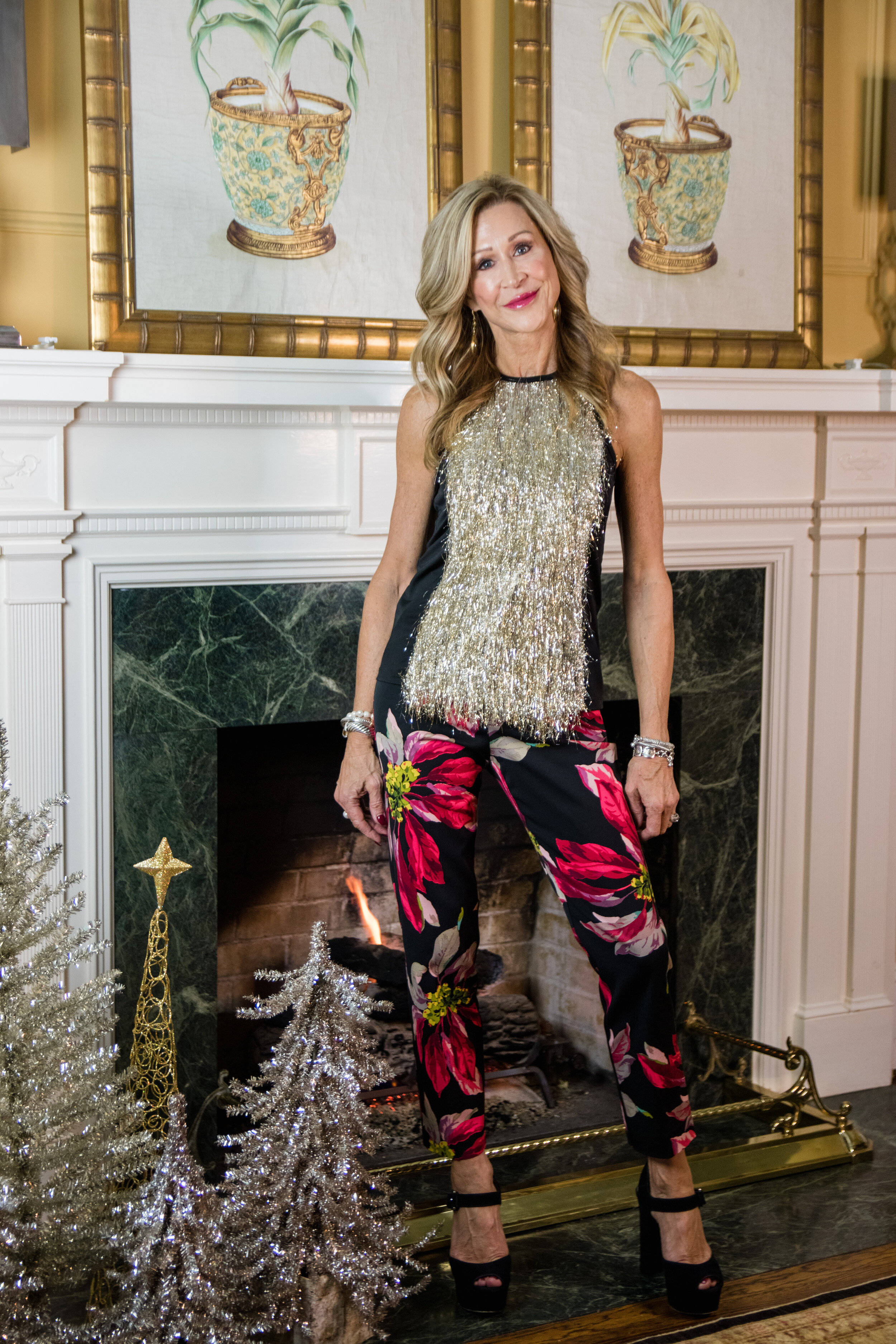Trina Turk Festive Holiday Outfit - Crazy Blonde Life