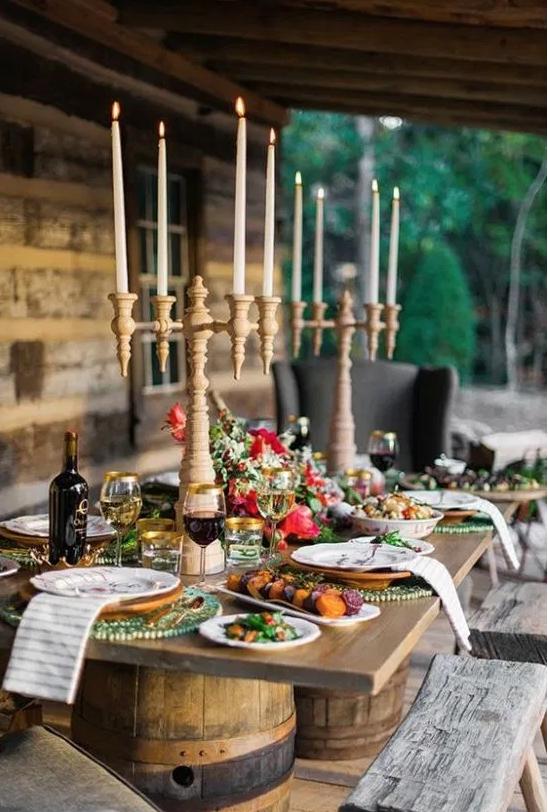 Thanksgiving Outdoor Table Idea - Crazy Blonde Life