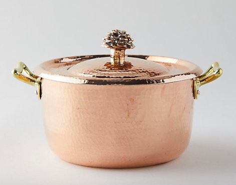 Copper Dutch Oven - Hand Forged and perfect for a simmering pot of soup!