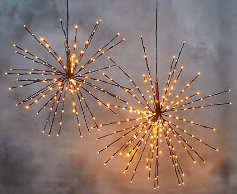 Twinkling Star Lights - Warm white LED lights for the holidays
