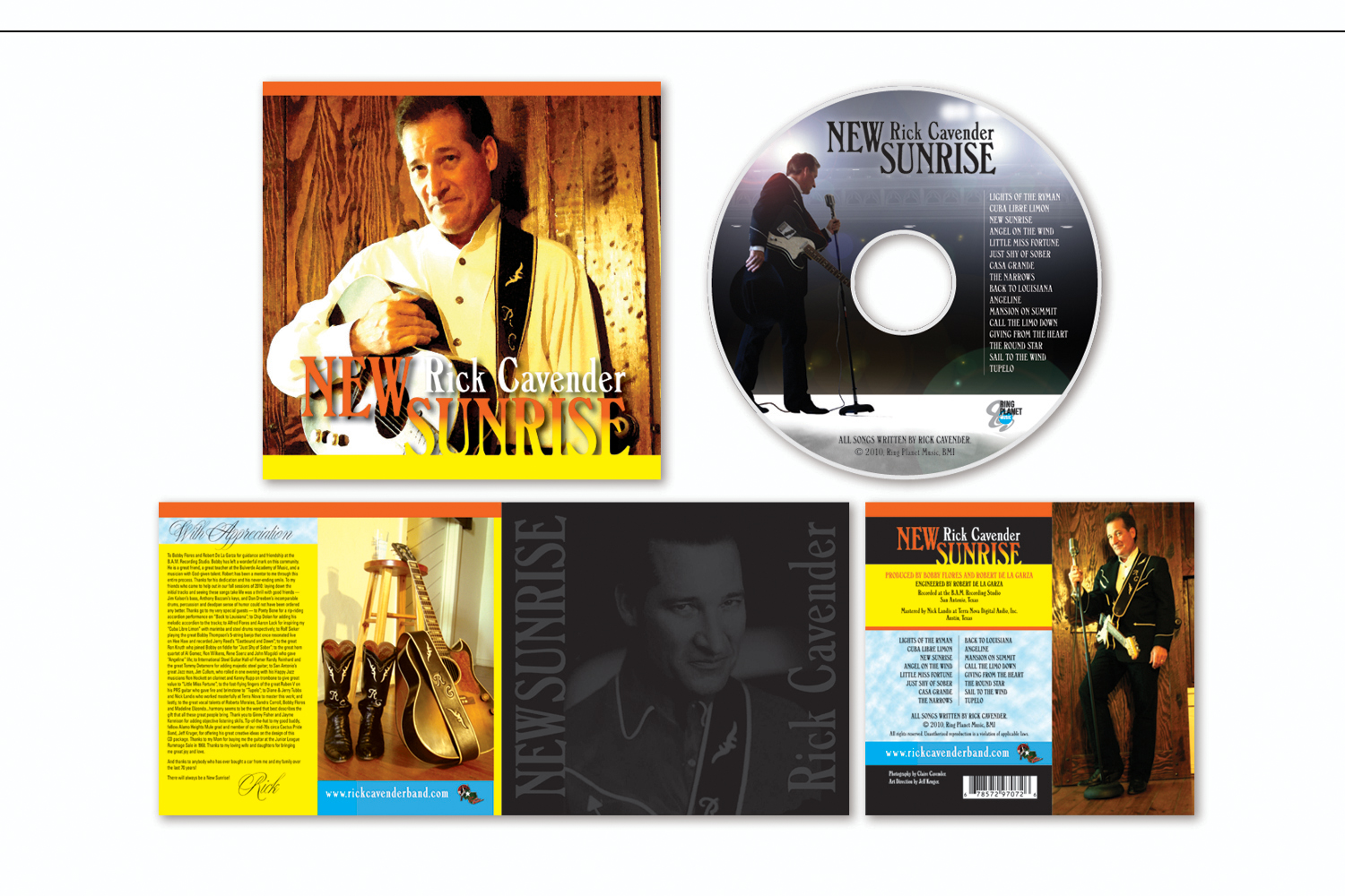 """CD Package,   Liner and disc design for """"New Sunrise"""""""