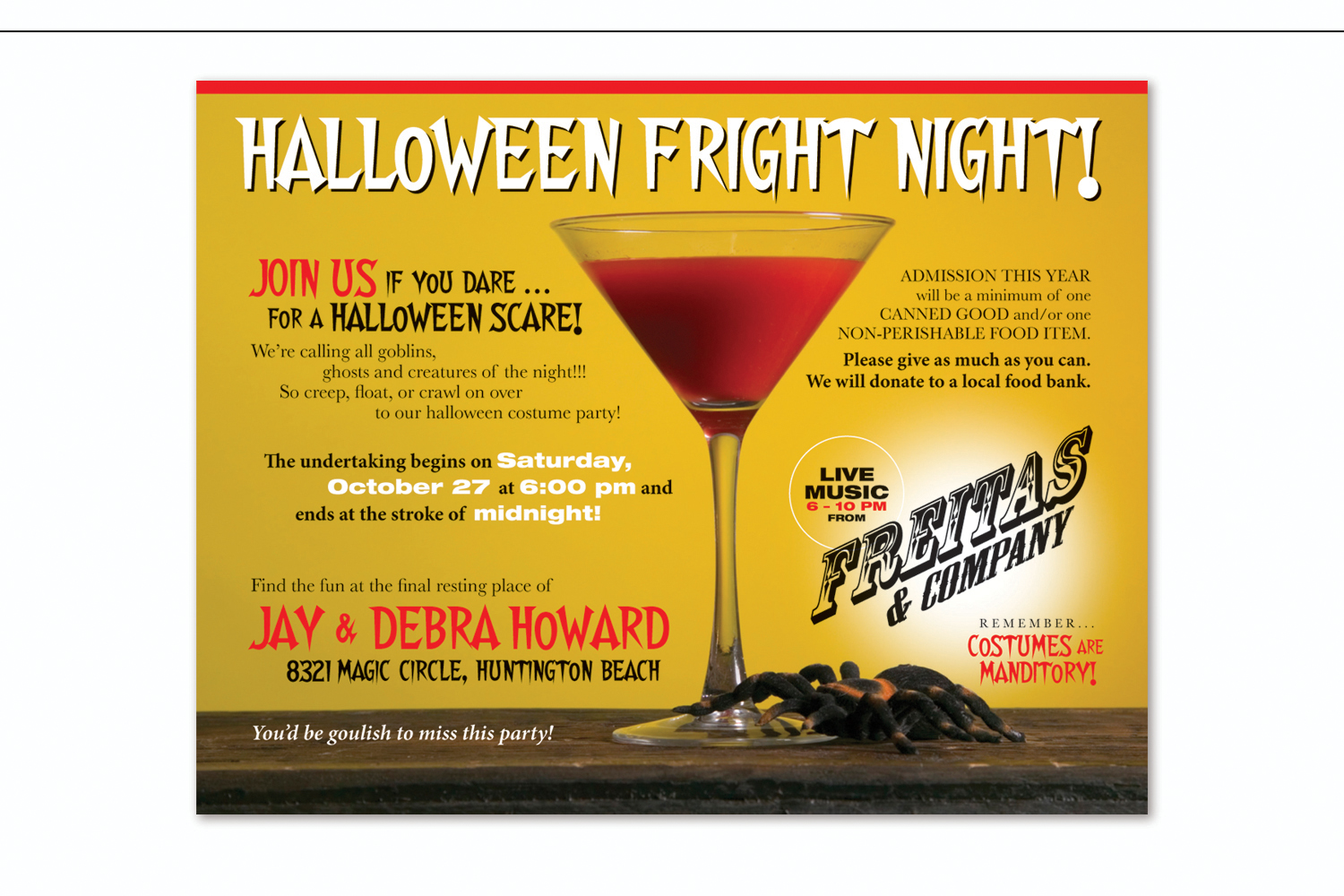 Halloween Event   to benefit the Orange County Food Bank