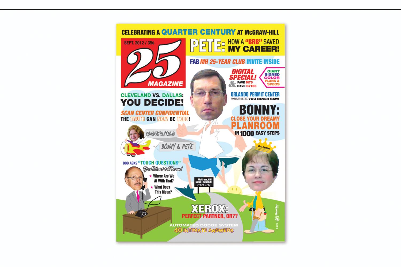 """""""25 Magazine"""",   Work anniversary card"""