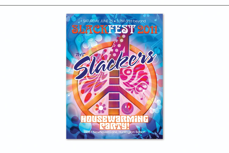 """Slackfest 2011"",   Housewarming party invitation"