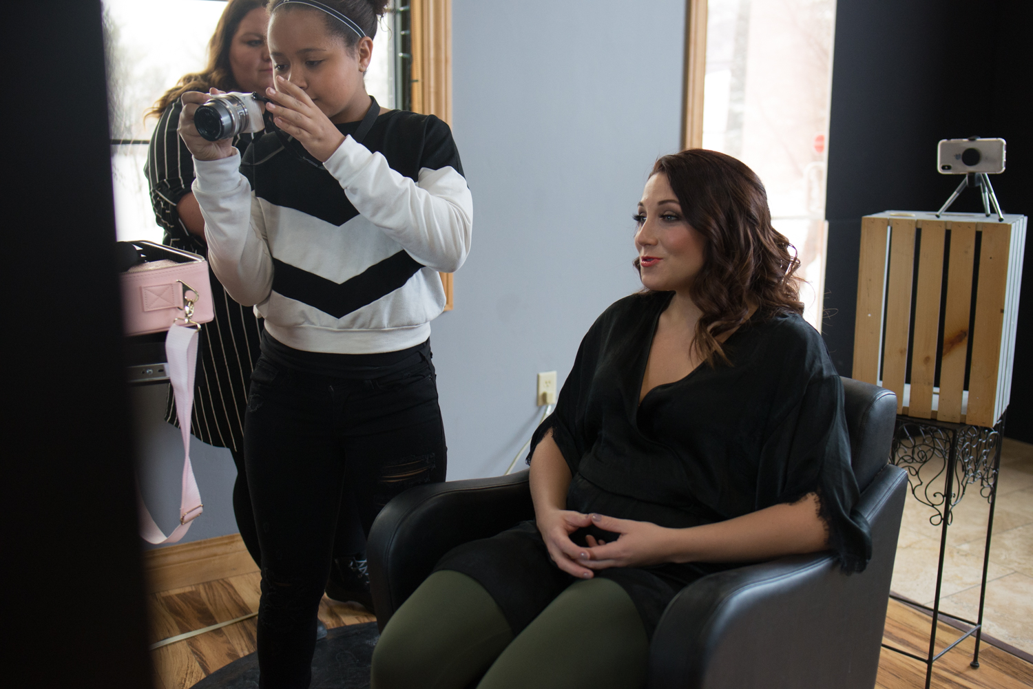 Client Hair Styling Mary Breuer Photography