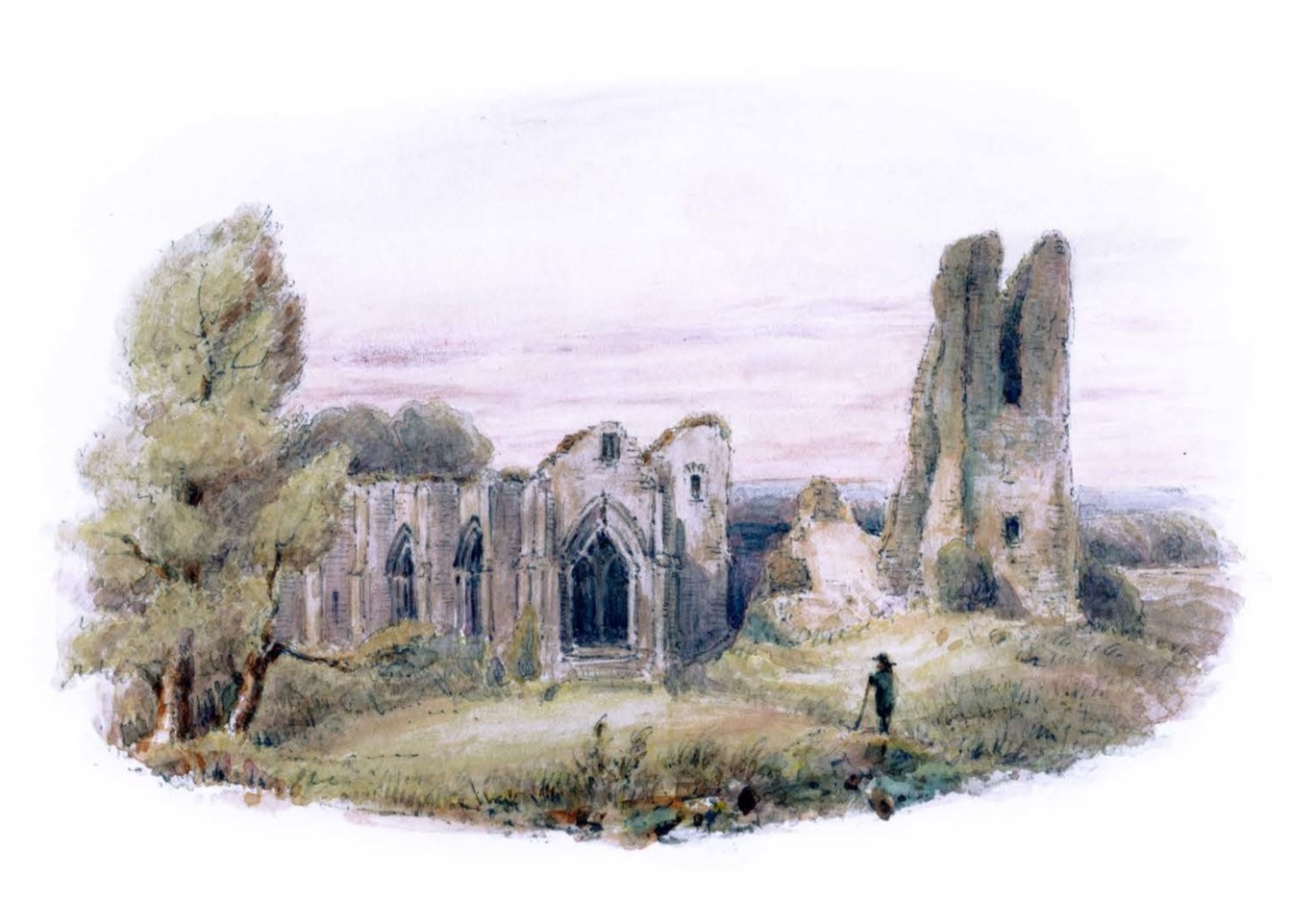 Robert Burns, Lincluden Abbey from  Views of the Haunts and Homes of the British Poets, Oct. 19 1850.