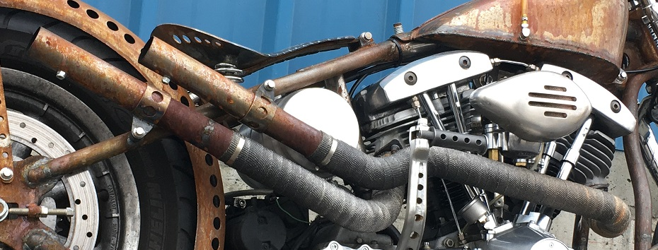 HAND BUILT EXHAUST AND SEAT PAN BY TODD APPLE