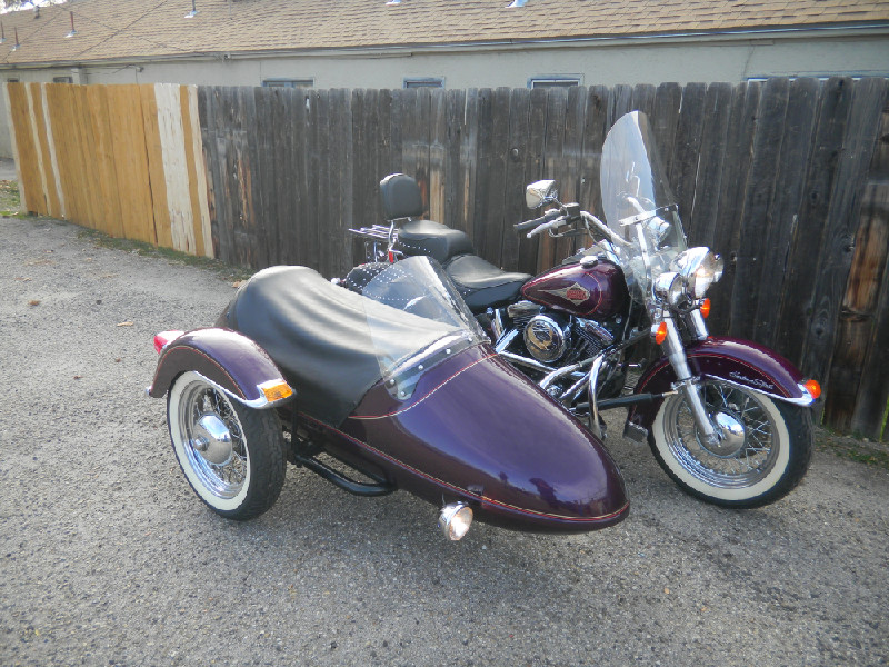 1996 HARLEY SOFTAIL WITH SIDECAR - THIS IS WHAT WE STARTED WITH