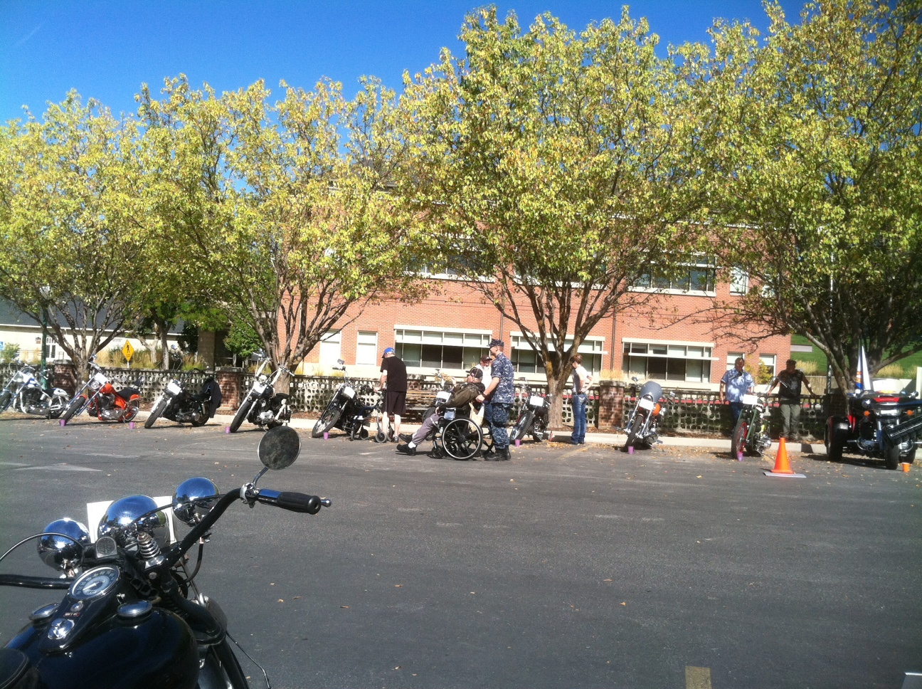 Beautiful day for a bike show!.JPG