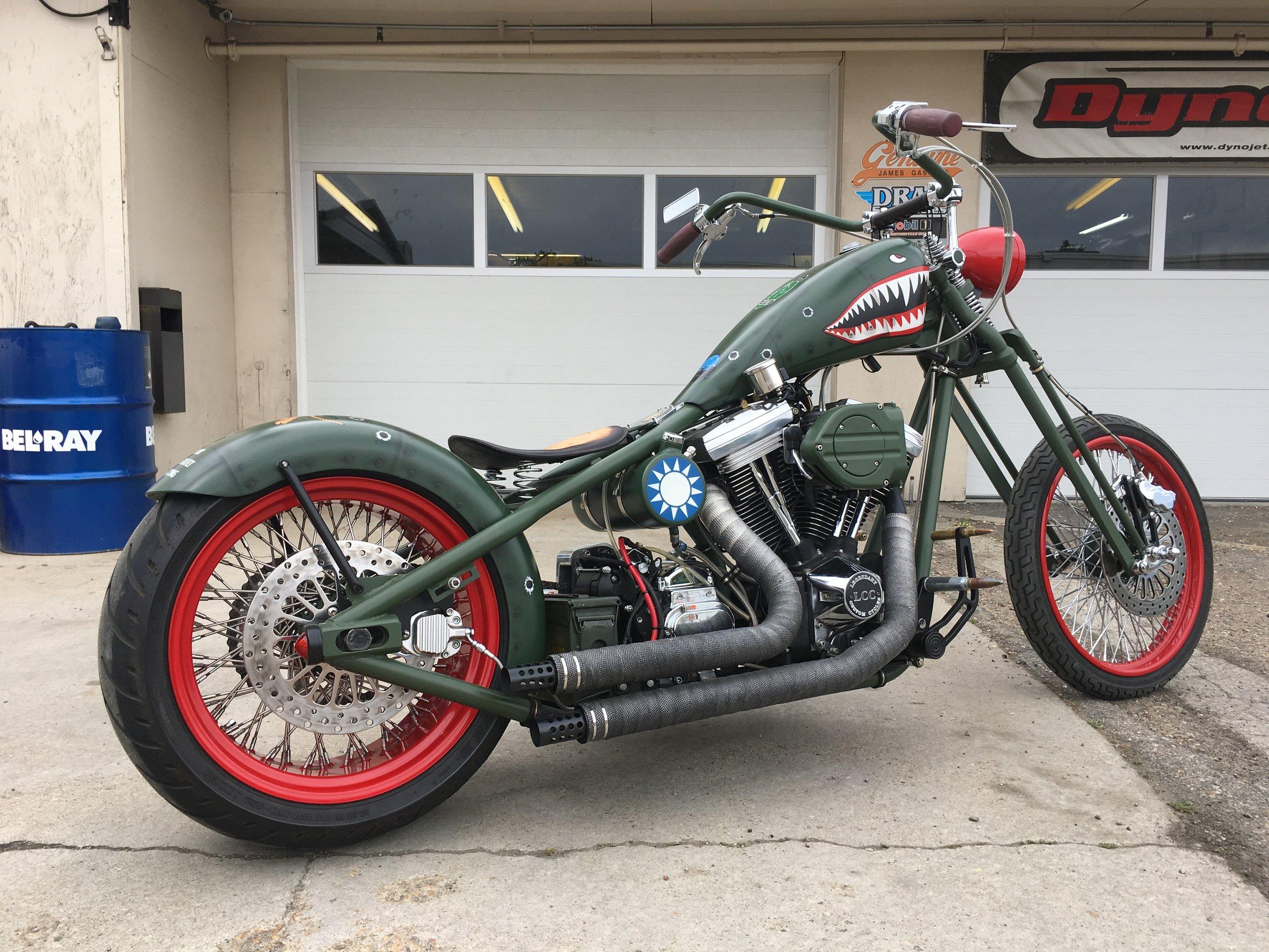 Rowdy's custom chopper