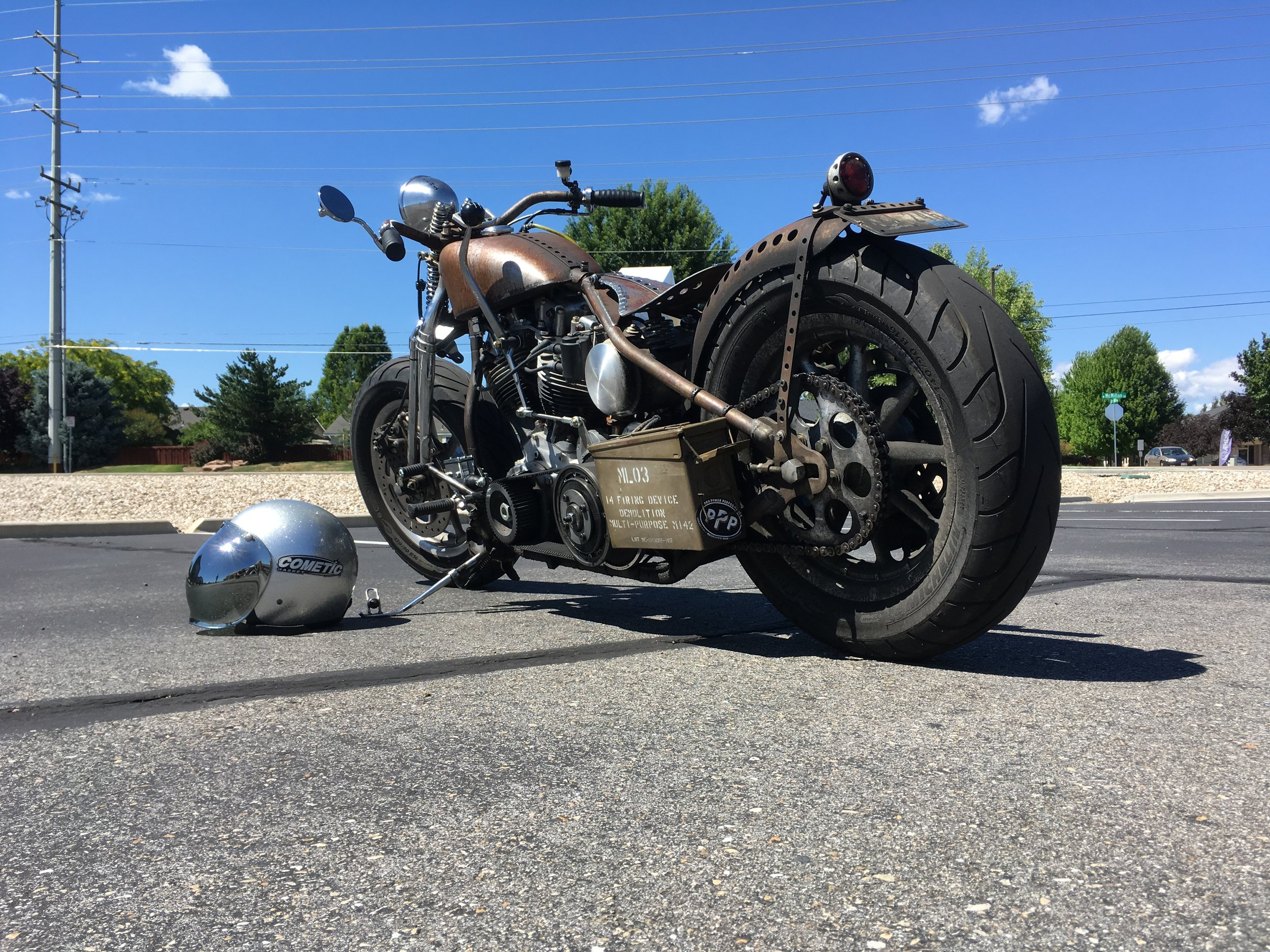 1973 Shovelhead with hand shift