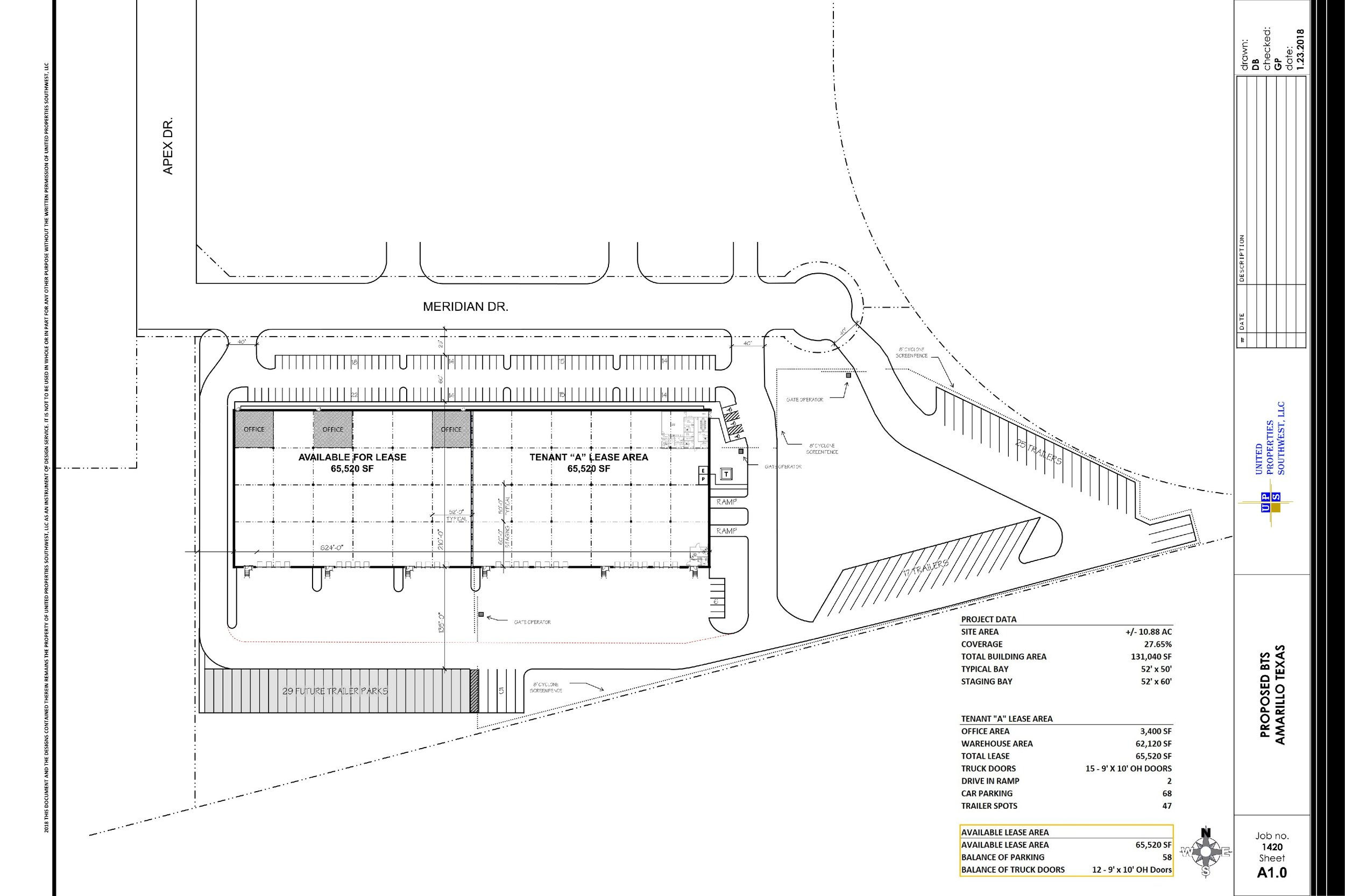 131,040 SF (65,520 SF Available) SP - B&W