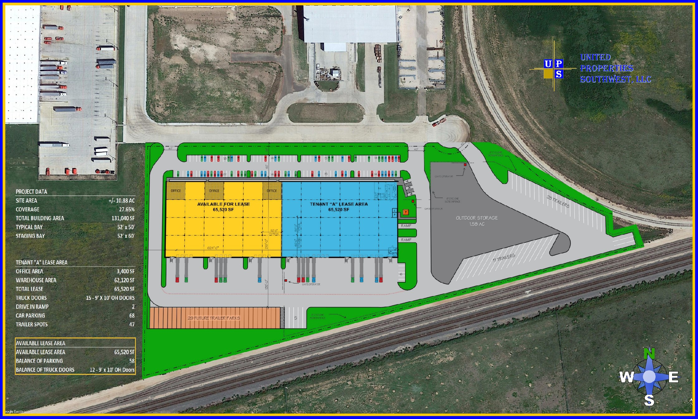 131,040 SF (65,520 SF Available) SATELLITE AERIAL
