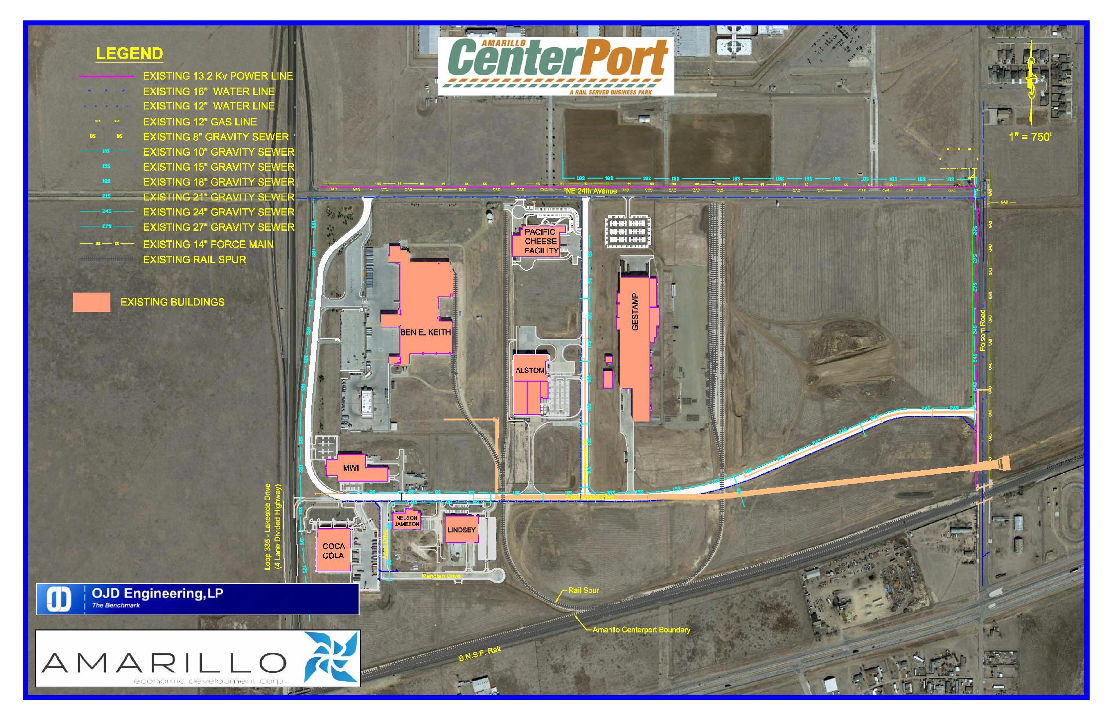 CenterPort Utilities Map