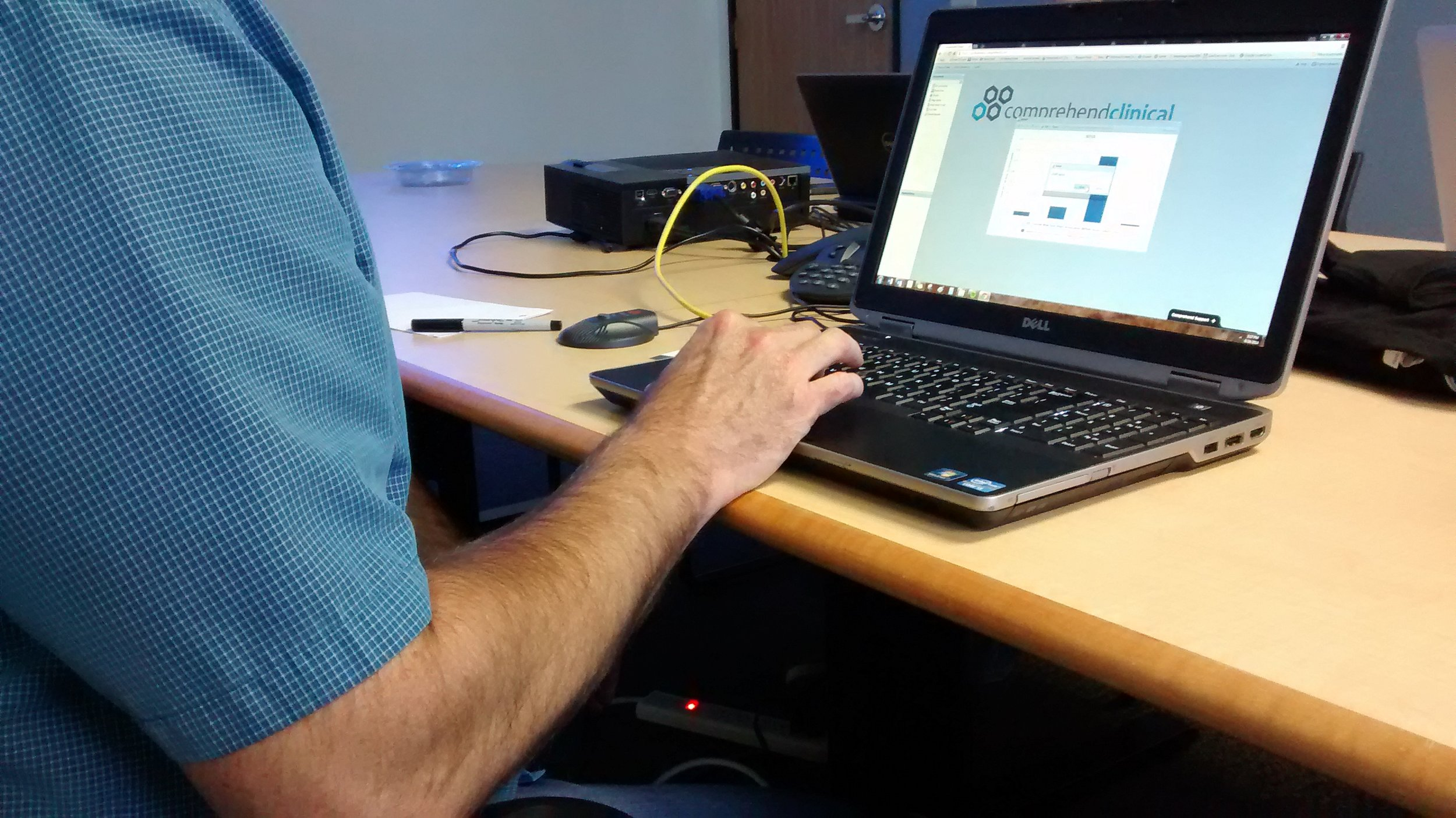 Observing existing customer using the previous version of the software.