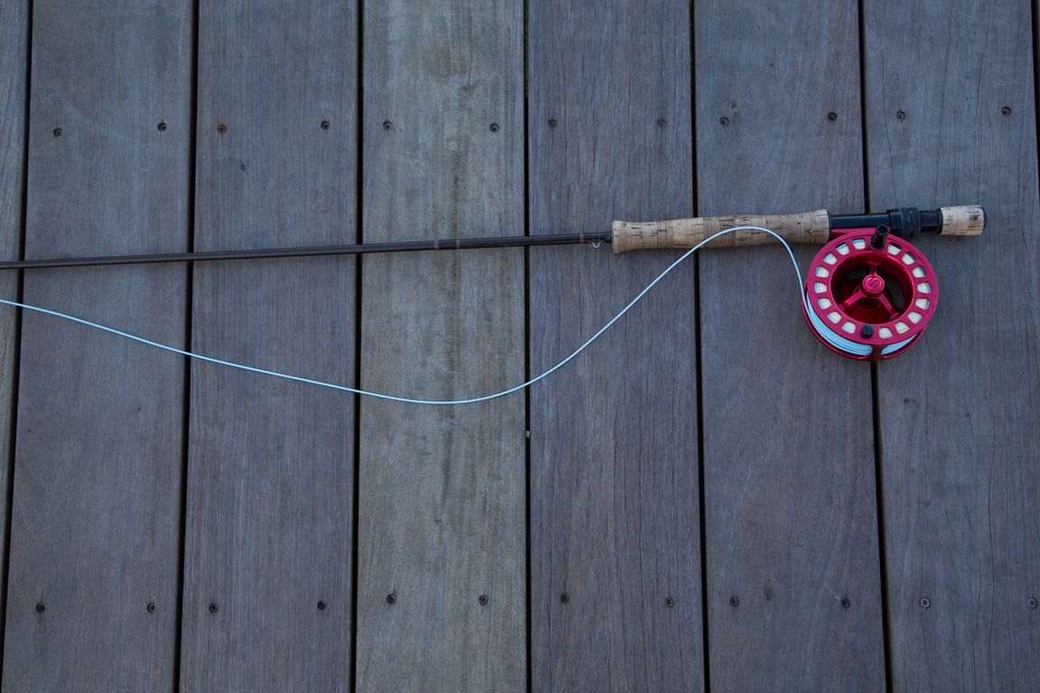 An Oyster Bamboo Fly Rod.