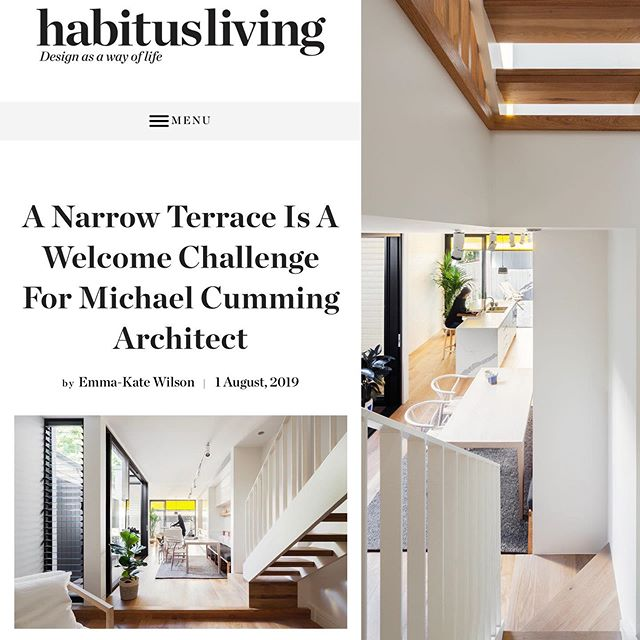 Cool to see our Surry Hills terrace house on @habitusliving today. Thanks Holly @holly_cunneen  and Emma Kate @emmakatewilson_art  https://www.habitusliving.com/architecture/surry-hills-house-michael-cumming