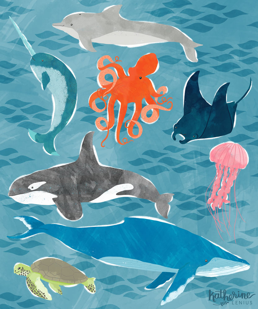 Sea Creatures | Katherine Lenius