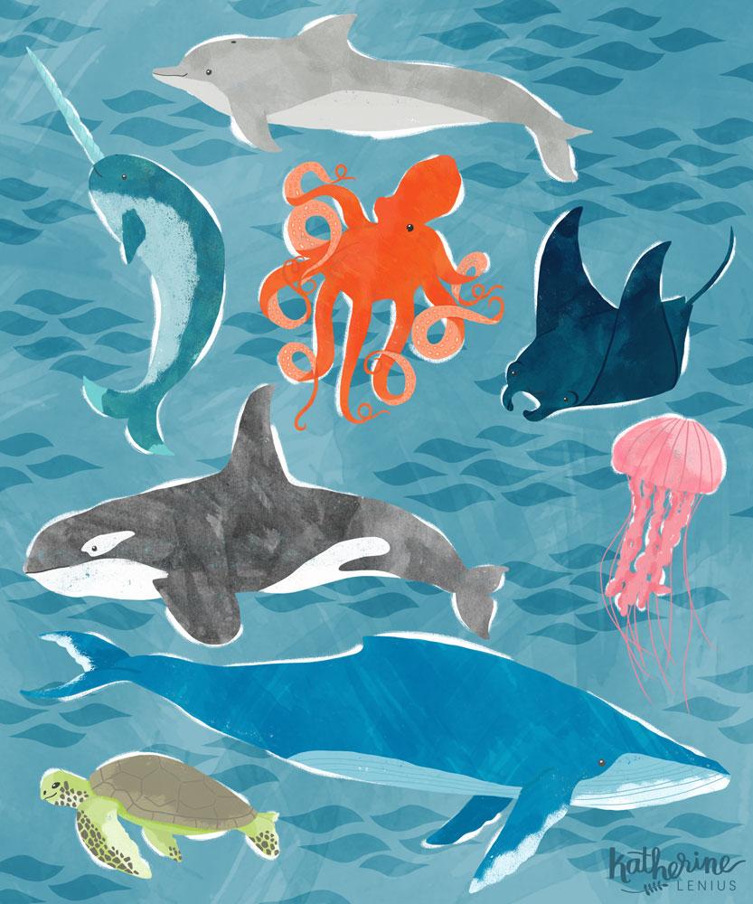 Sea Creatures | Katherine Lenius