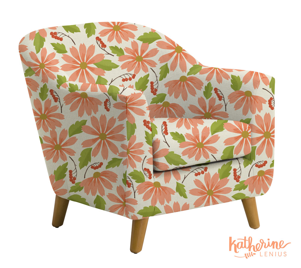 New floral pattern envisioned on a chair!