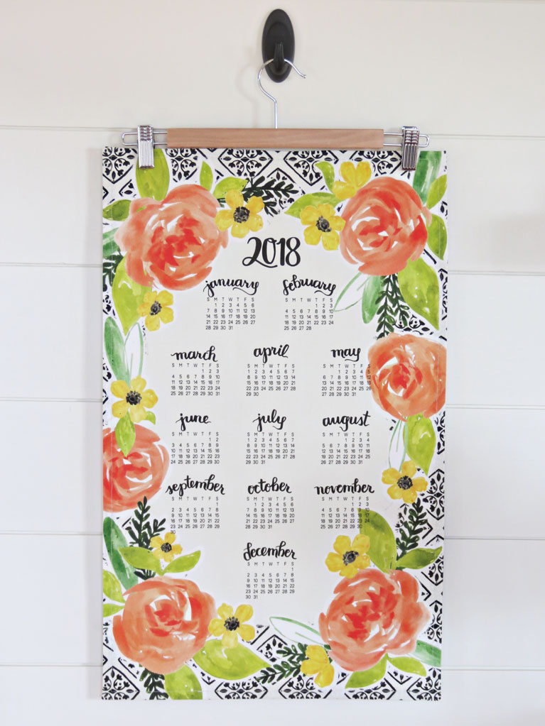 Delightful Days Ahead Tea Towel Calendar (other designs available)