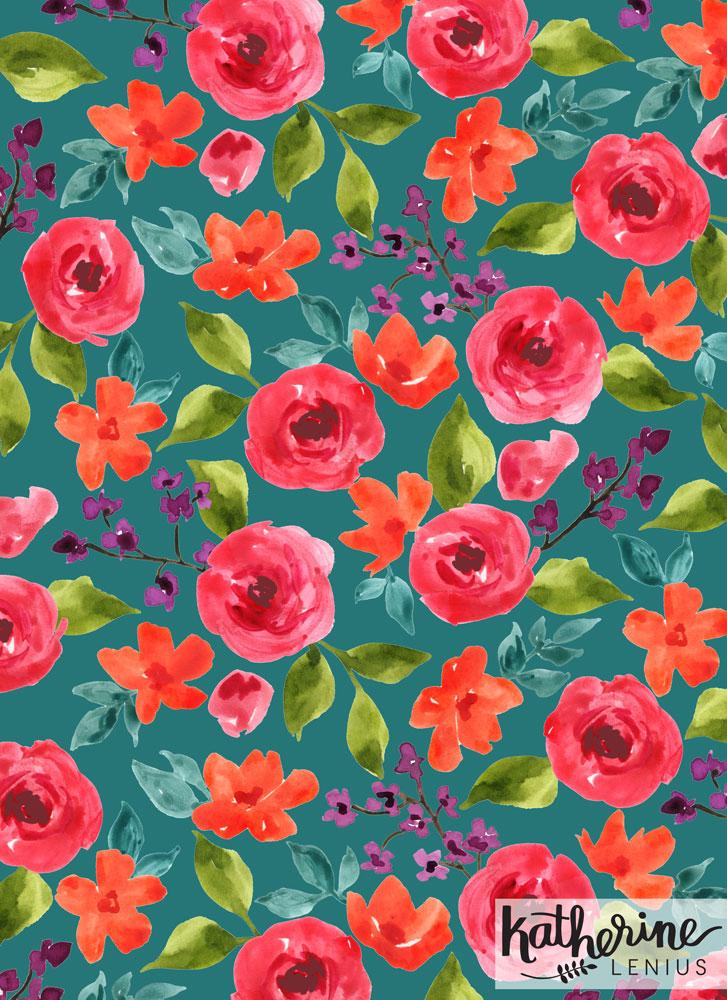 #9053 Twilight Floral