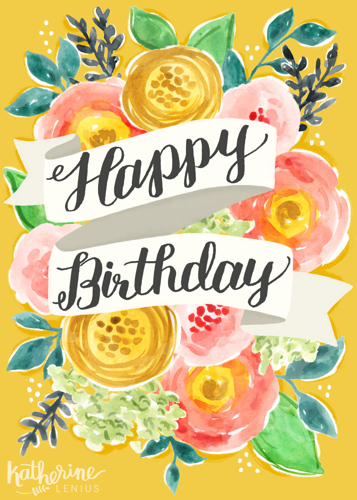 Birthday Scroll | Katherine Lenius