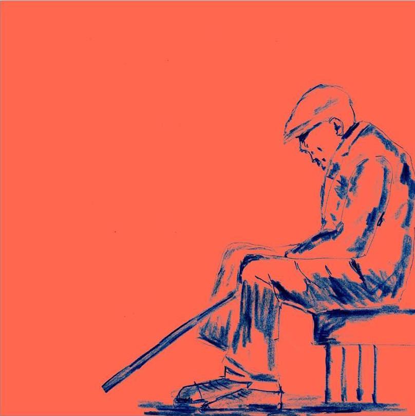 Viejo sentado, serie de viejos (1), 2010