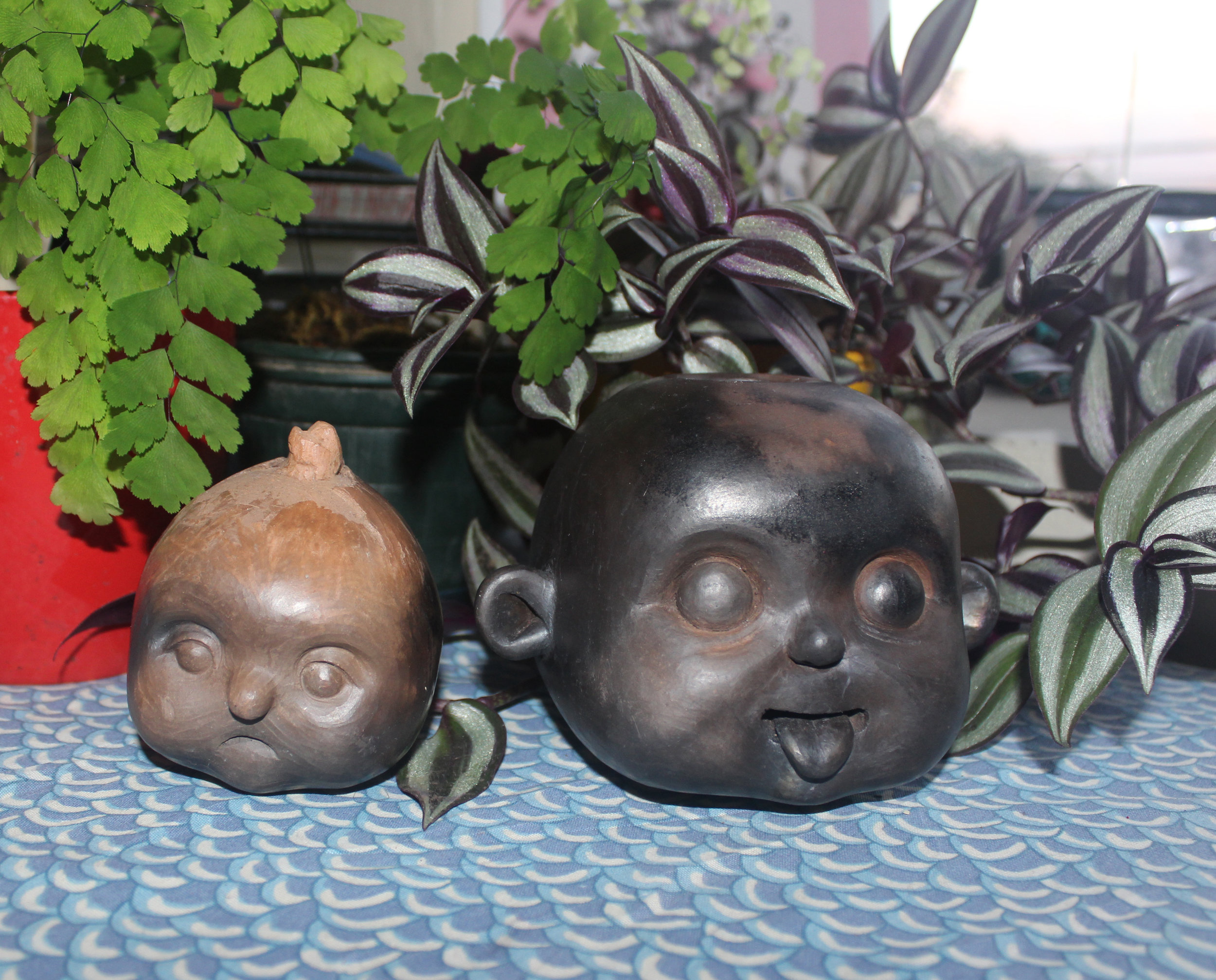 esculturas en cerámica que estarán a la venta en el puesto de rebeca martínez la feria de bellas artes de la ucr | precio: 30,000 - 40,000 colones